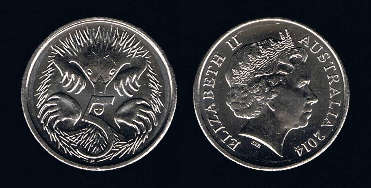 Австралія 5 центів 2004-2008рр.