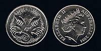 Австралия 5 центов 2004-2008гг.
