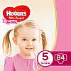 Підгузники дитячі Huggies Ultra Comfort для дівчаток 5 (12-22 кг) Mega Box 84 шт