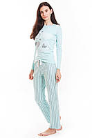 Комплект джемпер + брюки голубой