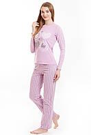 Комплект джемпер + брюки розовый