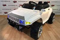 Детский электромобиль джип Hummer 5513, два мотора, 4 амортизатора, белый, дитячий електромобіль