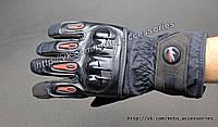 Мото перчатки тёплые Pro Biker с защитой