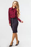 Блузка бордового цвета с галстуком