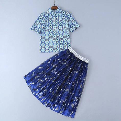 Женский костюм юбка и блузка Люкс копия, фото 2