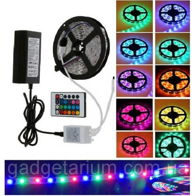 Полный комплект 5 метров LED ленты RGB 3528 ip65