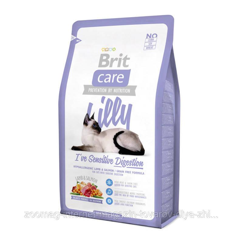 """Сухой корм Brit Care """"Lilly I have Sensitive Digestion"""" 34/18 (с ягненком для кошек с чувствительным пищеварением) 2 кг"""