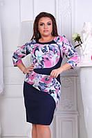 Женское стильное платье рукав три четверти +большой размер, фото 1