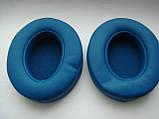 Подушки для наушников Monster Beats Wireless 2.0 белые, черные и синие, фото 4