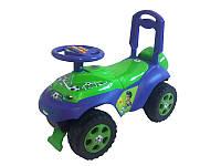 Детская каталка машина Автошка flamingo toys 0142/02 с музыкальным рулем
