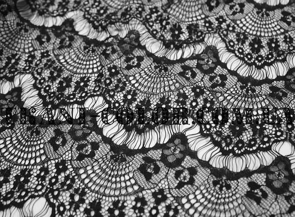 Ткань гипюр реснички черный, фото 2