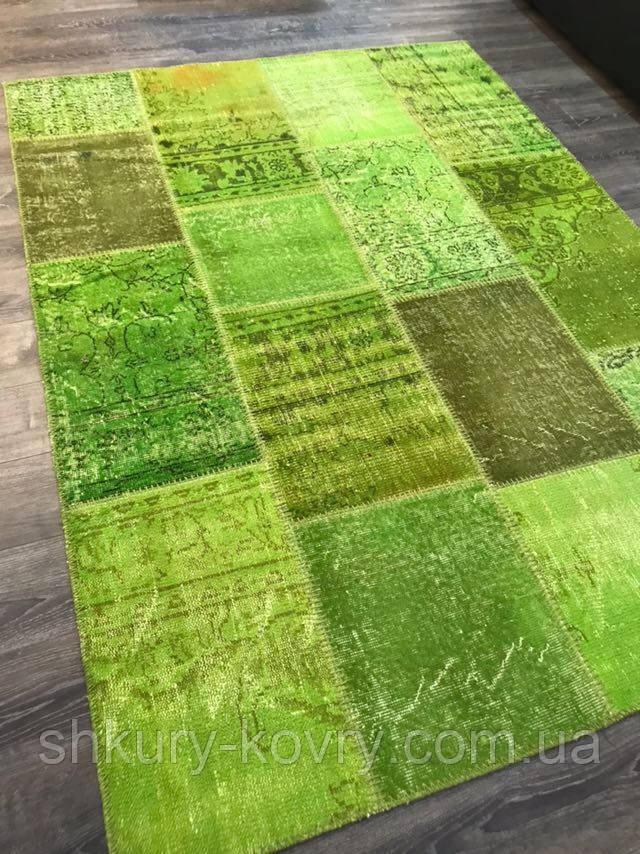 Ковер patchwork винтажный зеленый купить в Киеве