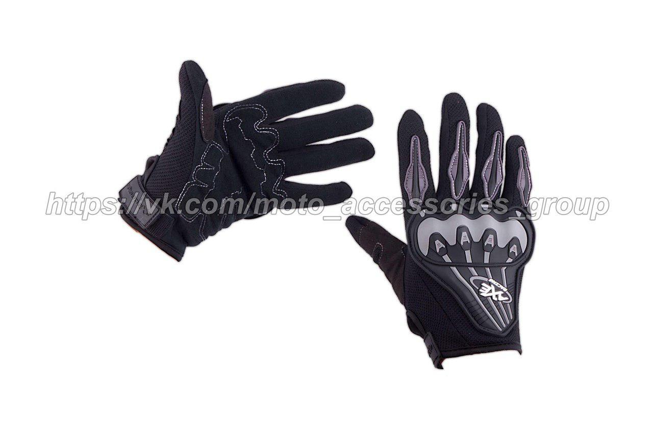 Мото перчатки AXE RACING (текстиль, черные)