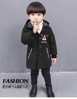 Детское пальто для мальчика со зверушками