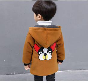 Детское пальто для мальчика со зверушками, фото 2