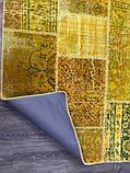 Желтый состаренный ковер, лоскутные ковры в Одессе, фото 3