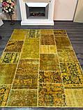 Желтый состаренный ковер, лоскутные ковры в Одессе, фото 4