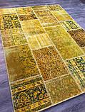 Желтый состаренный ковер, лоскутные ковры в Одессе, фото 2