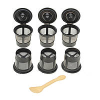 6 штук Черный Solo Фильтры для кофе поддонов Многоразовые одноразовые чашки для фильтров для кофеварки