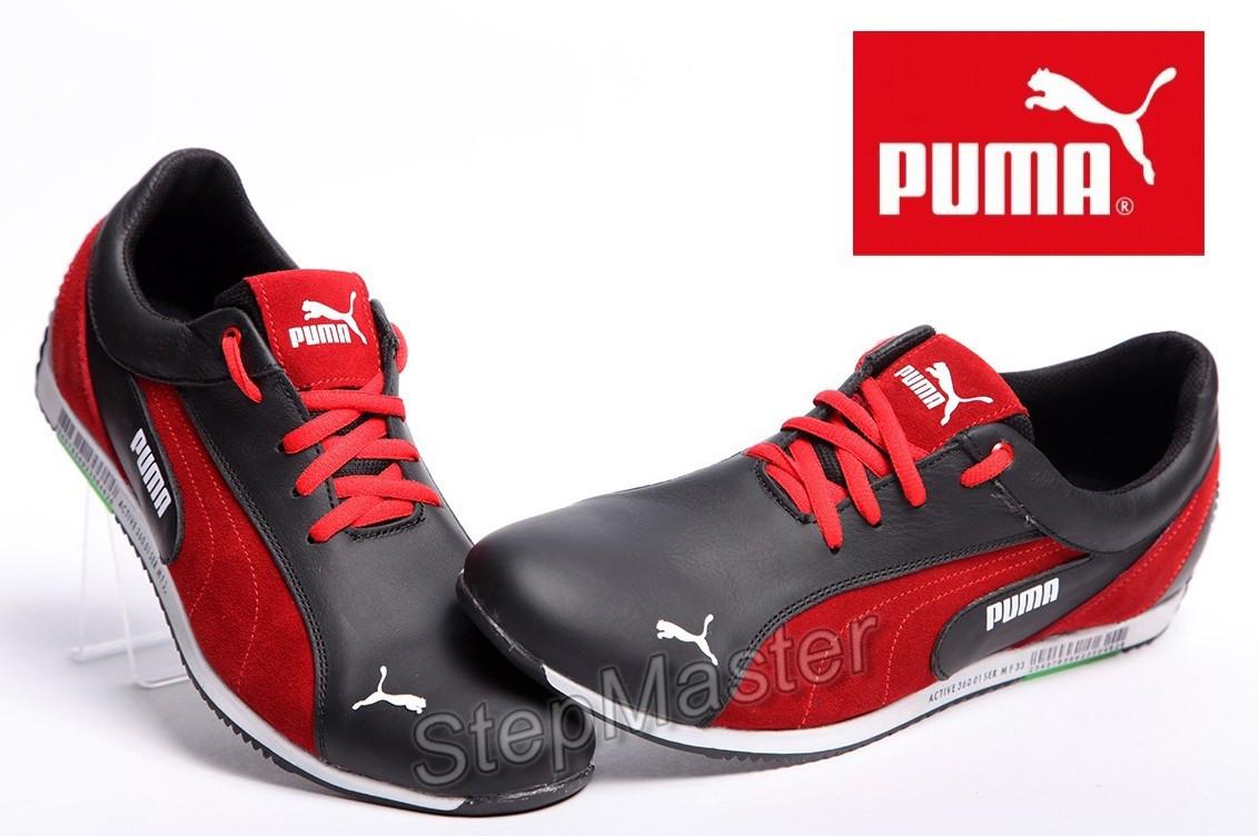 ea92f195 Кроссовки Puma Air Jump Black Red, кожаные с замшевыми вставками - Интернет- магазин