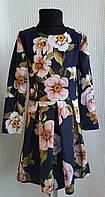 Платье подростковое с длинным рукавом  Татьяна р. 128-146