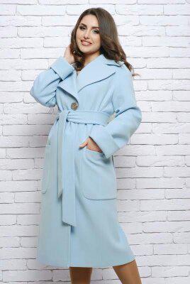 Пальто женское демисезонное Almatti модель V-81 бежевое