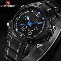 Мужские спортивные часы Naviforce Aero 9050 Blue, Гарантия 12 мес. Чоловічий спортивний годинник