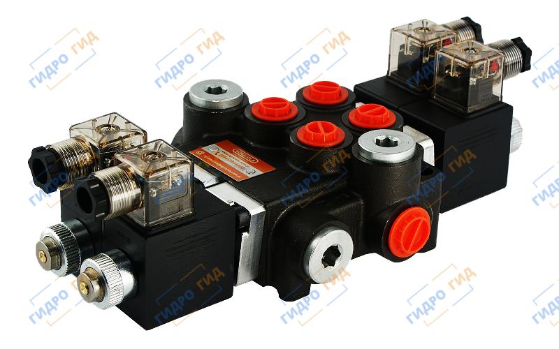 Электромагнитный гидрораспределитель Z50 12/24 В (двухсекционный)
