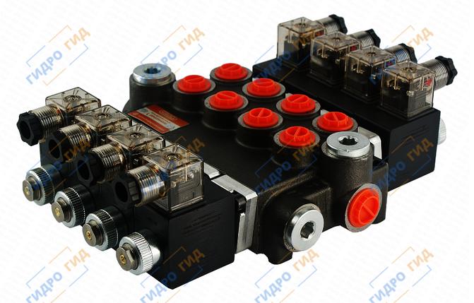 Электромагнитный гидрораспределитель Z50 12/24 В (четырехсекционный), фото 2