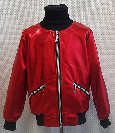 Детская Куртка Бомбер АМУР  р.110-128 красный, фото 2