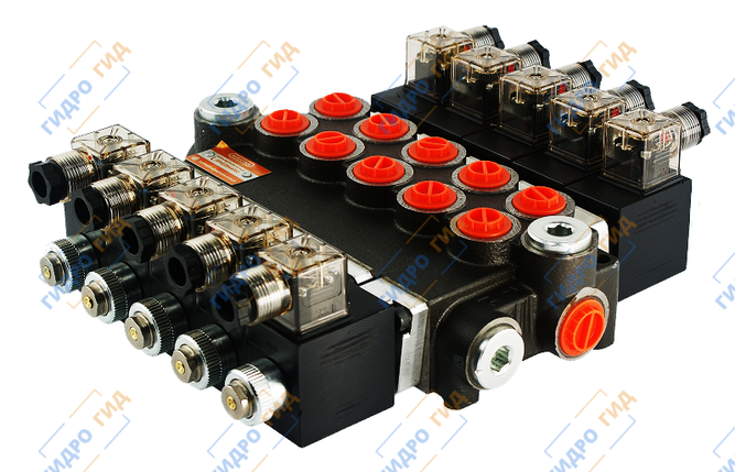 Электромагнитный гидрораспределитель Z80 12/24 В (шестисекционный), фото 2