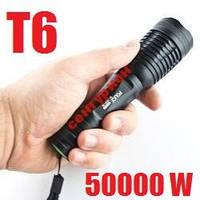 ✅Тактический фонарик POLICE BL-1837-T6 158000W T6 Cree 5 режимов две зарядки АКБ