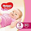 Підгузники Huggies Ultra Comfort для дівчаток 3 (5-9 кг) Mega Pack 80 шт