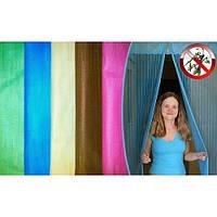 Москитная сетка на сплошных магнитах на двери  москитная штора 0,9 х210 высокое качество все цвета !