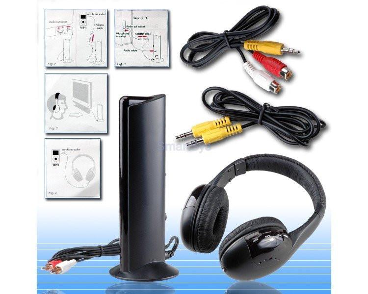 Наушники беспроводные (5в1)FM+Микр+Модулятор+Радионяня 2