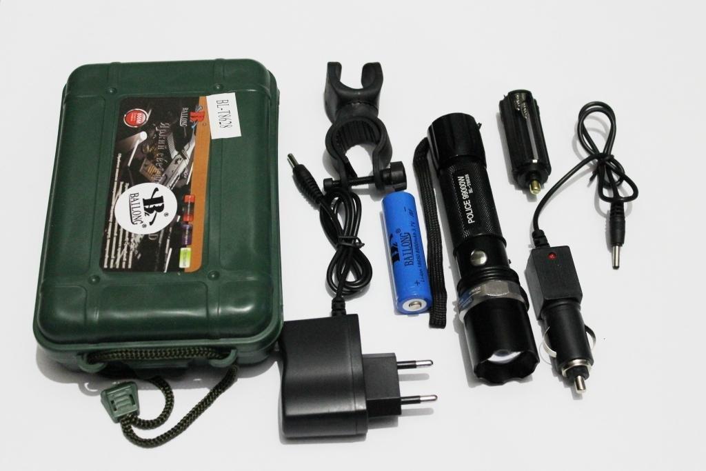 Фонарик тактический POLICE Bailong 8628 99000W велокрепление две зарядки аккумулятор 8800 5