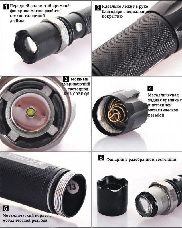 Фонарик тактический POLICE Bailong 8628 99000W велокрепление две зарядки аккумулятор 8800 8