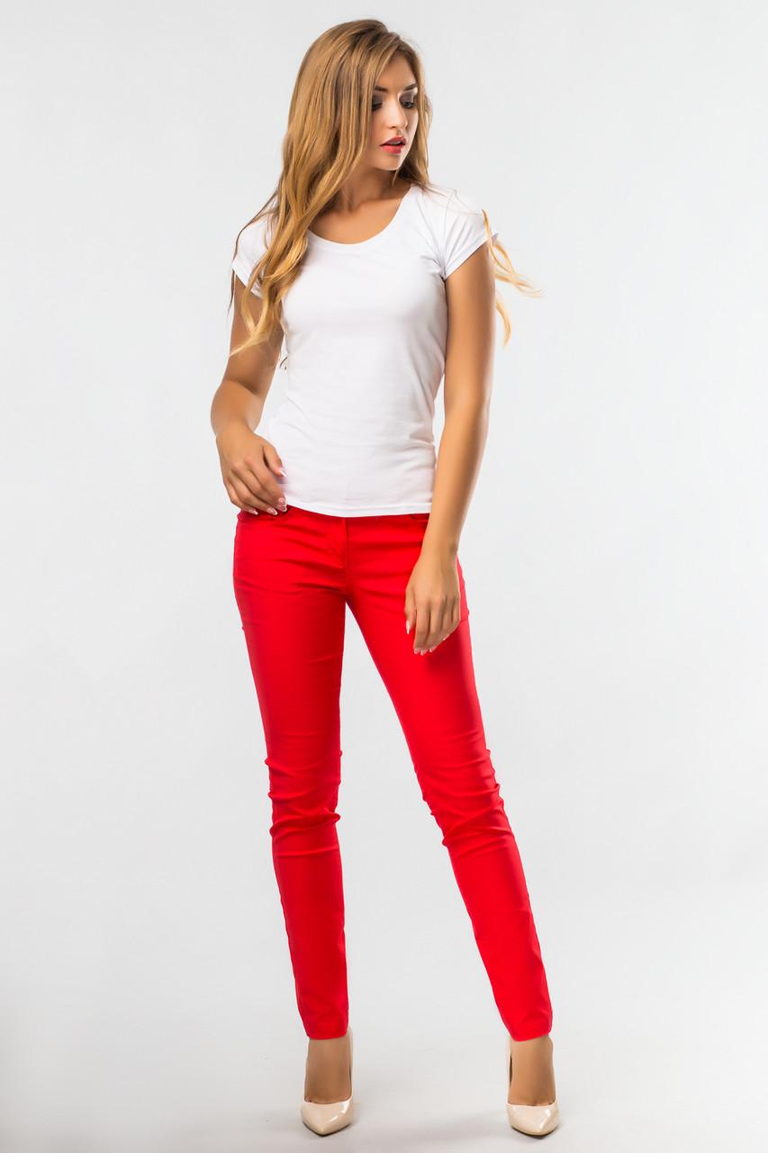 Красные обтягивающие брюки, фото 1