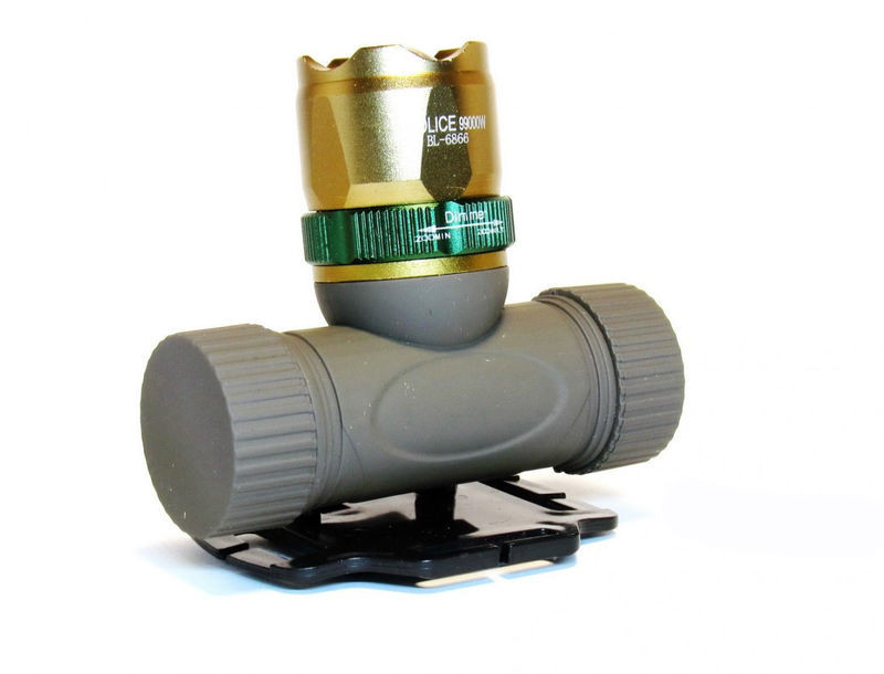 Фонарик налобный мощный Bailong POLICE BL-6866 99000W + аккумулятор + две зарядки +  Zoom + адаптер 4