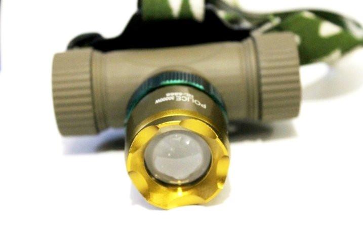 Фонарик налобный мощный Bailong POLICE BL-6866 99000W + аккумулятор + две зарядки +  Zoom + адаптер 5