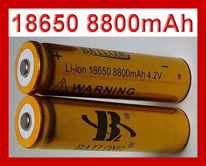 Аккумулятор  АКБ GOLD Li-Ion 18650 Bailong для тактических фонариков и шокеров 8800 mAh 4,2V