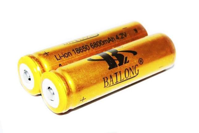 Аккумулятор  АКБ GOLD Li-Ion 18650 Bailong для тактических фонариков и шокеров 8800 mAh 4,2V 2