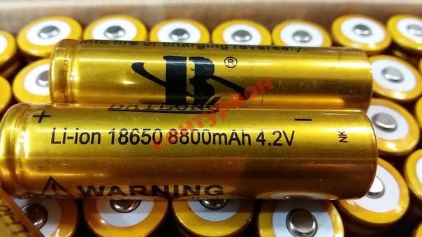 Аккумулятор  АКБ GOLD Li-Ion 18650 Bailong для тактических фонариков и шокеров 8800 mAh 4,2V 3