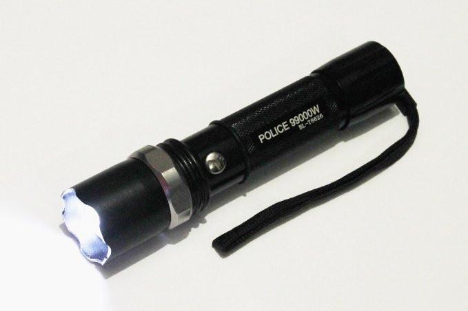 Фонарик сверх мощный тактический BL- 8626 POLICE Bailong 99000W + две зарядки + аккумулятор + адаптер + Zoom 5