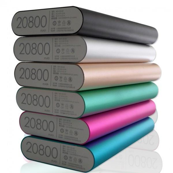 Внешний аккумулятор портативная зарядка Power Bank Повер Банк XiaoMi 20800mAh метал. универсальный АКБ 2
