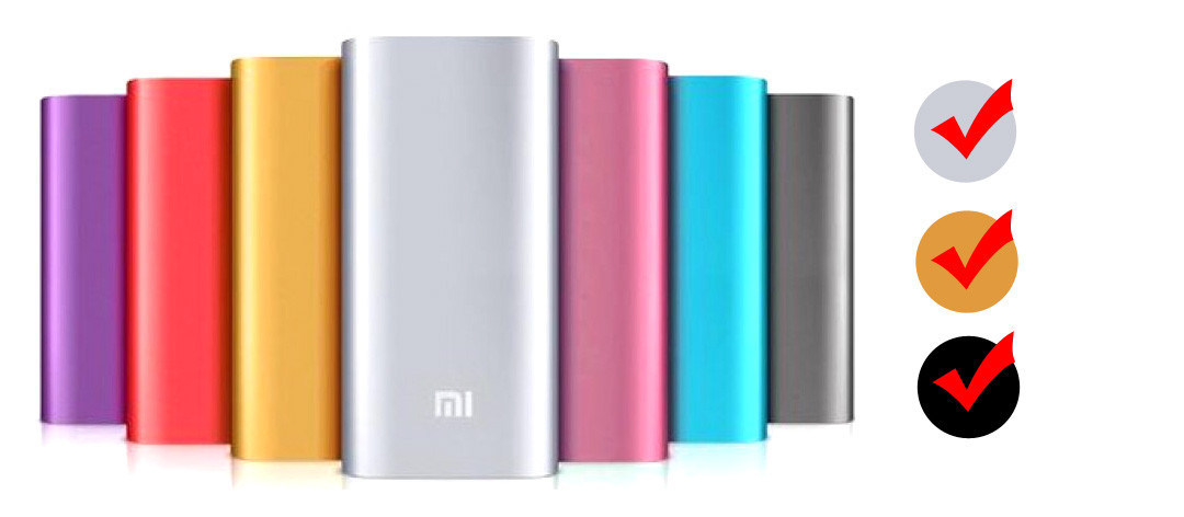 Внешний аккумулятор портативная зарядка Power Bank Повер Банк XiaoMi 20800mAh метал. универсальный АКБ 4