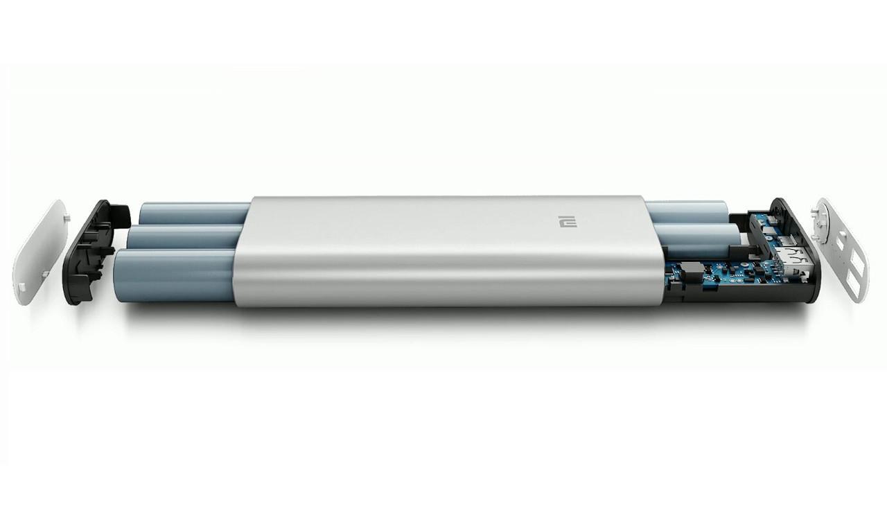 Внешний аккумулятор портативная зарядка Power Bank Повер Банк XiaoMi 20800mAh метал. универсальный АКБ 6