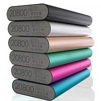 Power Bank Внешний АКБ портативная зарядка  Повер Банк XiaoMi 20800mAh метал. универсальный АКБ