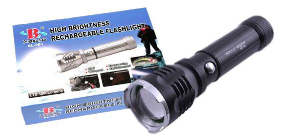 Фонарик тактический  POLICE  BL TS60-901 99000W две зарядки две диффузные  насадки магнит акб цвет серебро 5