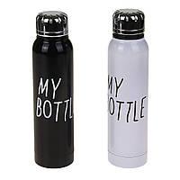 Термос бутылка MY BOTTLE 0,35л корпус и колба нержавейка. Черный